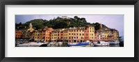 Framed Harbor Houses Portofino Italy