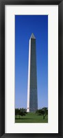 Framed Low angle view of the Washington Monument, Washington DC, USA