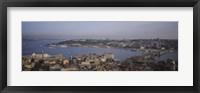 Framed Istanbul shoreline, Turkey