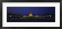 Framed Church lit up at night, Our Lady Of Fatima, Fatima, Portugal