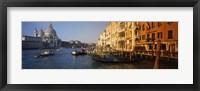 Framed Italy, Venice, Santa Maria della Salute, Grand Canal