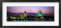 Framed Cityscape At Dusk, Cologne, Germany