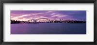 Framed Opera house at the waterfront, Sydney Opera House, Sydney Harbor Bridge, Sydney, New South Wales, Australia