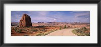 Framed Road Courthouse Towers Arches National Park Moab UT USA