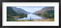 Framed Scotland, Highlands, Loch Shiel Glenfinnan Monument, Reflection of cloud in the lake