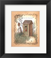 Old Backhouse Framed Print