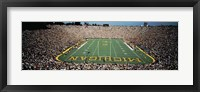 Framed University Of Michigan Stadium, Ann Arbor, Michigan, USA