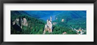 Framed High angle view of a castle, Neuschwanstein Castle, Bavaria, Germany