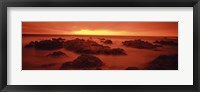 Framed Foggy beach at dusk, Pebble Beach, Monterey County, California, USA