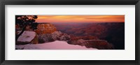 Framed Rock formations on a landscape, Grand Canyon National Park, Arizona, USA