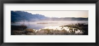 Framed Lake with mountains in the background, Canadian Rockies, Alberta, Canada