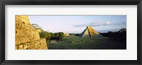 Framed Pyramids at an archaeological site, Chichen Itza, Yucatan, Mexico