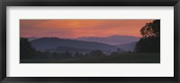 Framed Fog over hills, Caledonia County, Vermont, New England, USA