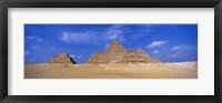 Framed Great Pyramids, Giza, Egypt