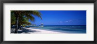 Framed Beach At Half Moon Hotel, Montego Bay, Jamaica