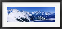 Framed Alpine Scene In Winter, Switzerland
