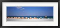 Framed Beach Scene, Miami, Florida, USA