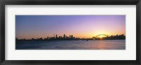 Framed Sunset Over the Bridge, Sydney, Australia