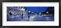 Framed Hotel de Ville & Notre Dame Cathedral Paris France