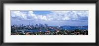 Framed Cityscape, Harbor, Sydney, Australia