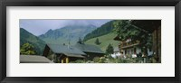 Framed Low angle view of houses on a mountain, Muren, Switzerland