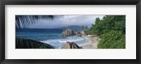 Framed Indian Ocean La Digue Island Seychelles