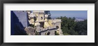 Framed High section view of a building, Pena Palace, Palacio Nacional De Sintra, Portugal