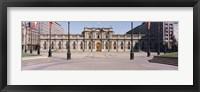 Framed Facade of a palace, Plaza De La Moneda, Santiago, Chile