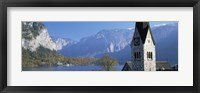 Framed Church at the lakeside, Hallstatt, Salzkammergut, Austria