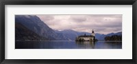 Framed Fort on an island in a lake, Schloss Ort, Traunsee, Gmunden, Upper Austria, Austria