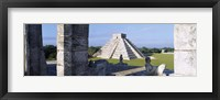 Framed Pyramid in a field, El Castillo, Chichen Itza, Yucatan, Mexico
