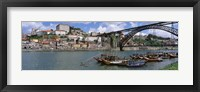 Framed Bridge Over A River, Dom Luis I Bridge, Douro River, Porto, Douro Litoral, Portugal