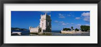 Framed Fort at the coast, Torre De Belem, Lisbon, Portugal