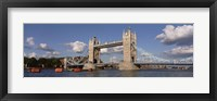 Framed Bridge Over A River, Tower Bridge, Thames River, London, England, United Kingdom