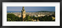 Framed High Angle View of Barcelona, Spain
