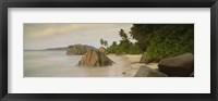Framed Rocks On The Beach, La Digue Island, Seychelles