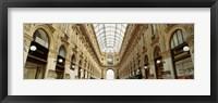 Framed Interiors of a hotel, Galleria Vittorio Emanuele II, Milan, Italy