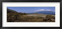 Framed Landscape with ocean in the background, Isabela Island, Galapagos Islands, Ecuador