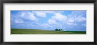 Framed Panoramic view of a landscape, Marshall County, Iowa, USA