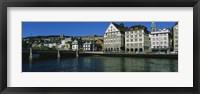 Framed Buildings at the waterfront, Limmat Quai, Zurich, Switzerland
