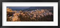 Framed High angle view of buildings in a town, Fira, Santorini, Cyclades Islands, Greece