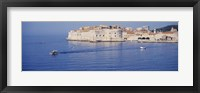 Framed Two boats in the sea, Dubrovnik, Croatia