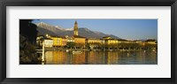 Framed Town At The Waterfront, Ascona, Ticino, Switzerland
