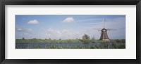 Framed Netherlands, Traditional windmill in the village
