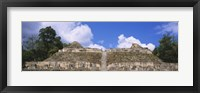 Framed Old ruins of a temple, El Caracol, Cayo District, Belize