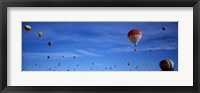 Framed Low angle view of hot air balloons, Albuquerque, New Mexico, USA
