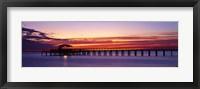 Framed Sunset Mobile Pier AL USA