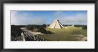 Framed Pyramid Chichen Itza Mexico