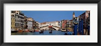 Framed Bridge across a canal, Rialto Bridge, Grand Canal, Venice, Veneto, Italy