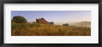 Framed Barn in a field, Iowa County, near Dodgeville, Wisconsin, USA